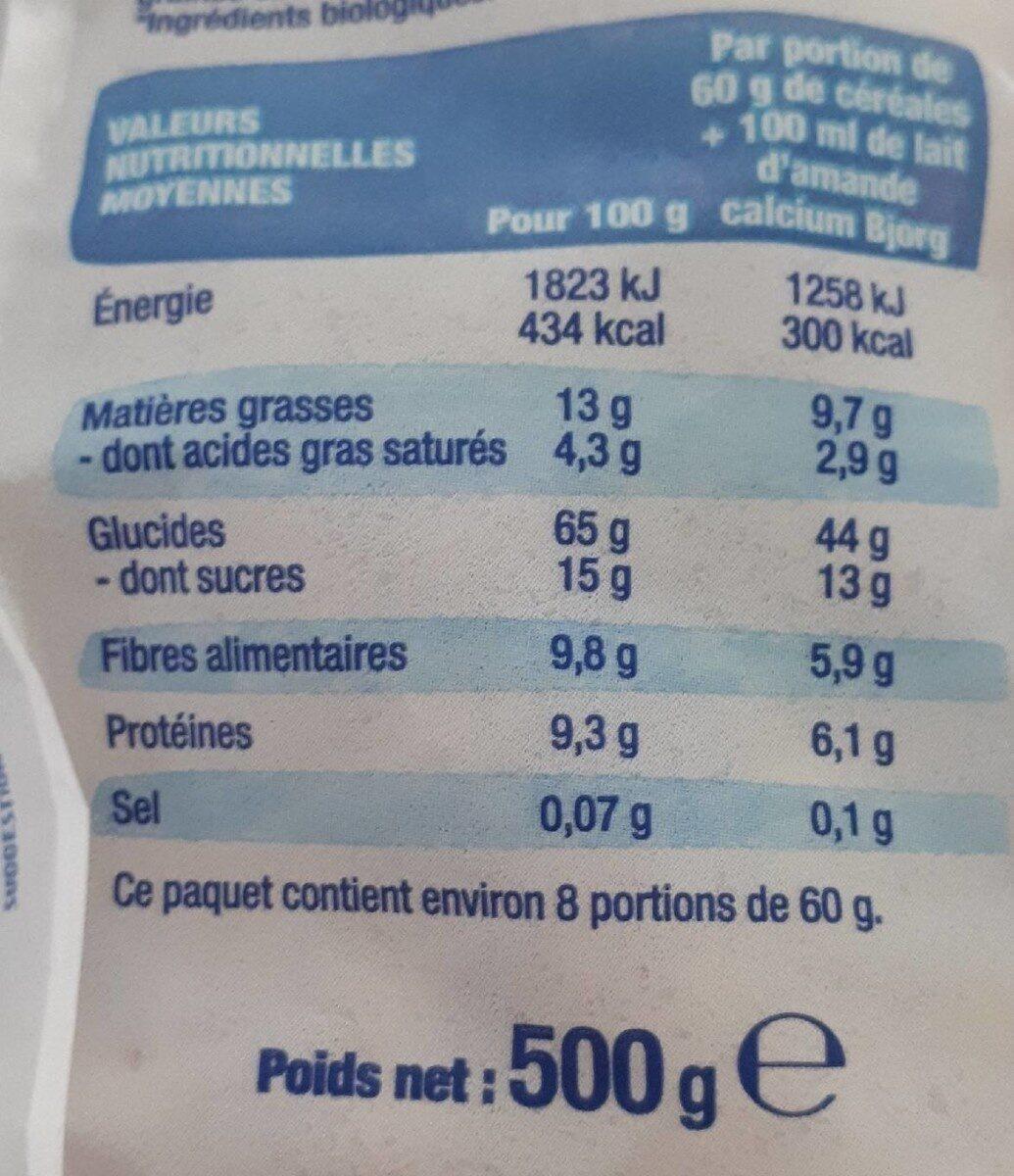 Crousti'avoine chocolat - Nährwertangaben - fr
