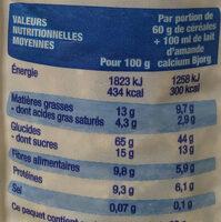 Crousti'avoine chocolat - Nutrition facts - fr