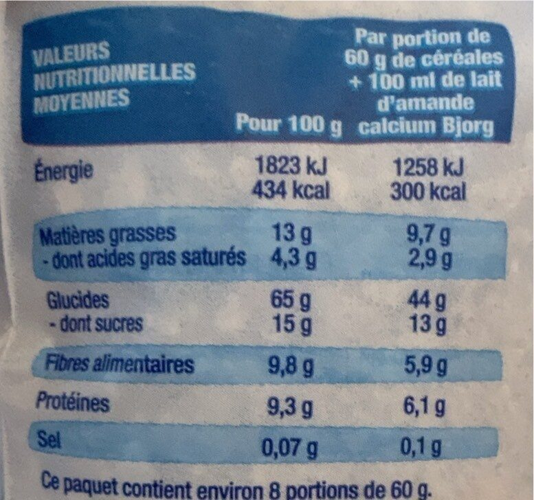 Crousti avoine chocolat - Informations nutritionnelles - fr