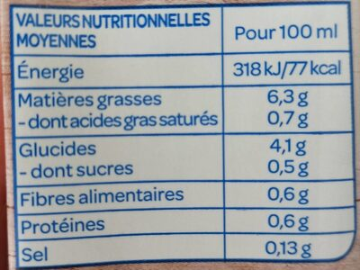 Avoine cuisine - Nutrition facts - fr