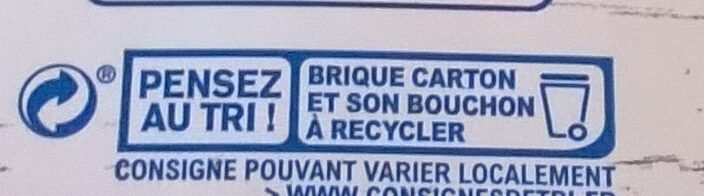 Lait d'amande sans sucres - Instruction de recyclage et/ou information d'emballage - fr