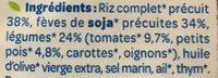 Bjorg veggie riz soja légumes - Ingredients - fr