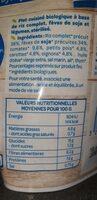 Bjorg veggie riz soja légumes - Nutrition facts - fr