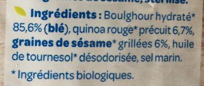 Boulgour, Quinoa et Sésame - Ingrédients - fr