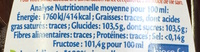 Sirop d'Agave brun bio - Nutrition facts - fr