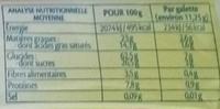 Galettes de Riz Chocolat au Lait - Informations nutritionnelles