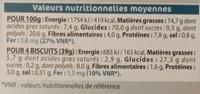 Biscuit Cacao Quinoa Sans Sucre - Informations nutritionnelles - fr