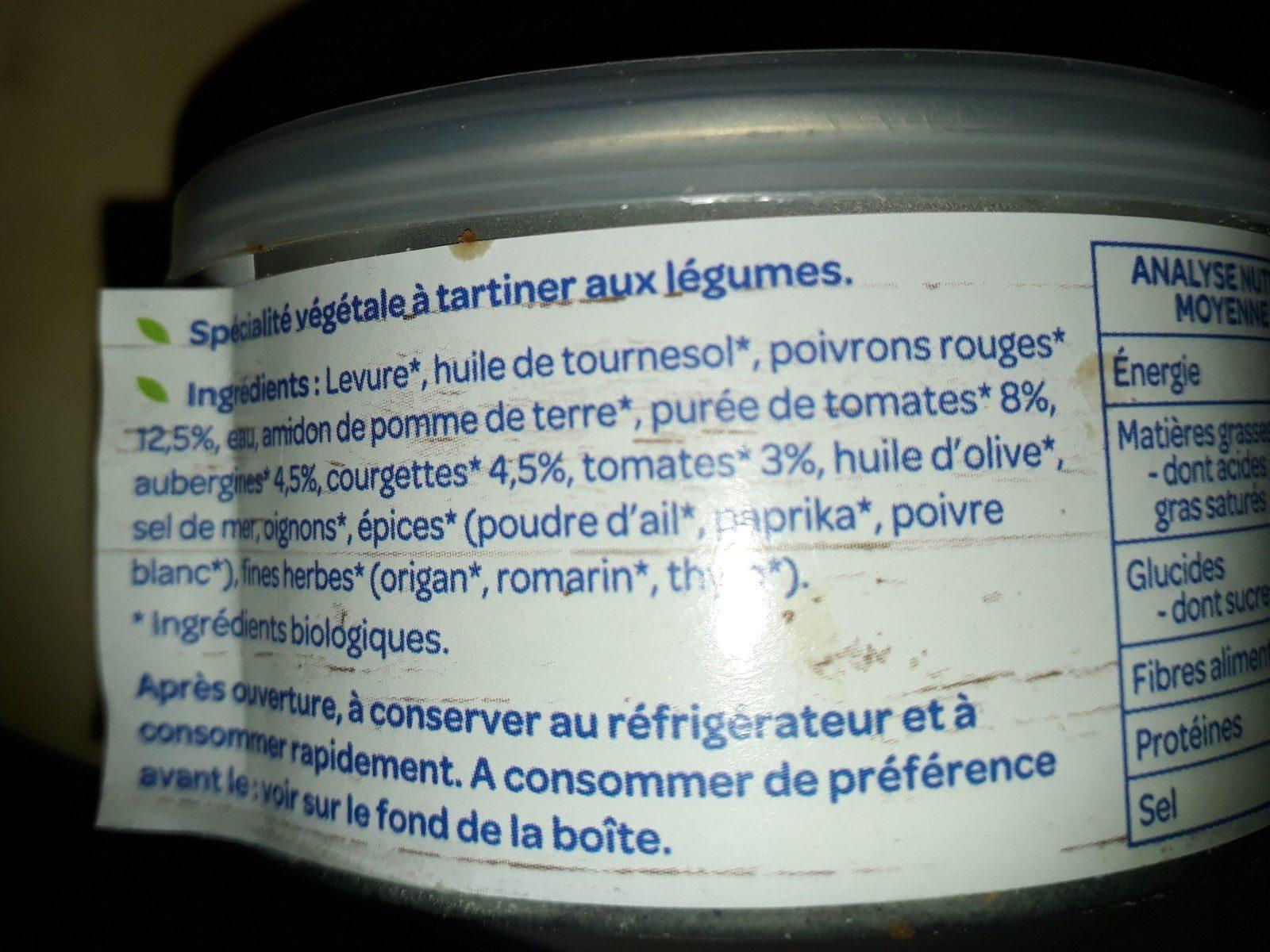 Terrine légumes du soleil - Ingredients - fr