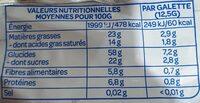 Galettes de riz chocolat noir - Nutrition facts - fr