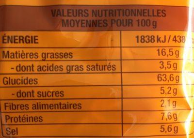 Nouilles asiatiques - Informations nutritionnelles - fr