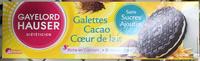 Galettes Cacao Cœur de lait - Product - fr