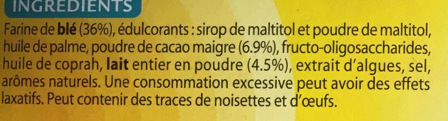 Galettes Cacao Cœur de lait - Ingredients - fr