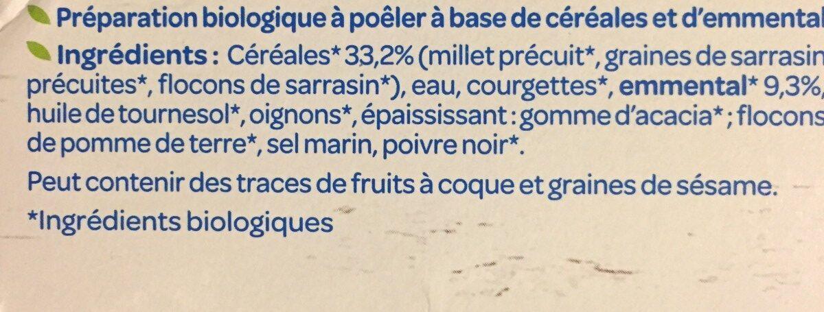 Les Délicieux Galettes Céréales Emmental bio - Ingrediënten