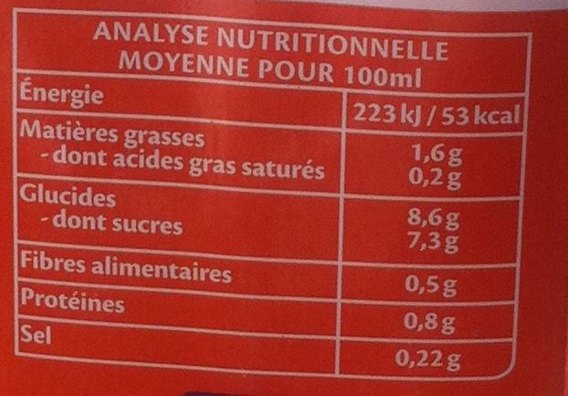 Boisson Gourmande Amandes Caramel Salé - Informations nutritionnelles - fr