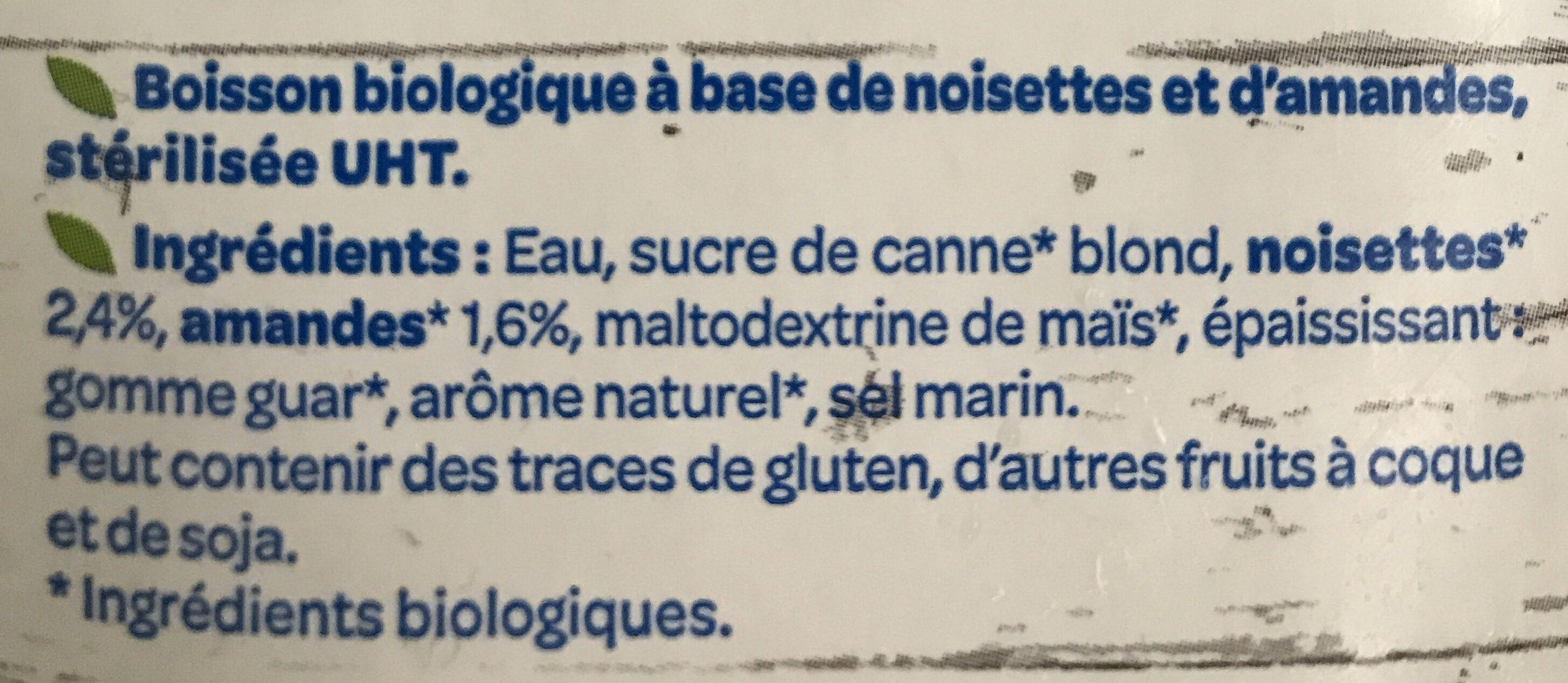 Boisson Amande Noisette - Ingrédients - fr