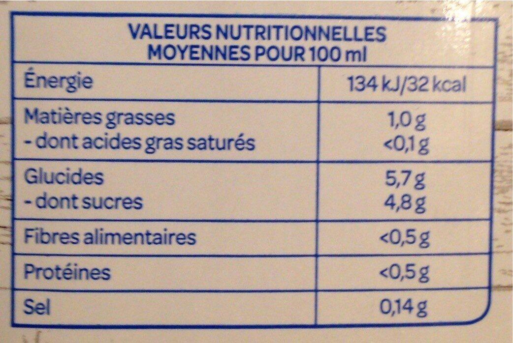 Boisson gourmande amande noisette - Nährwertangaben - fr