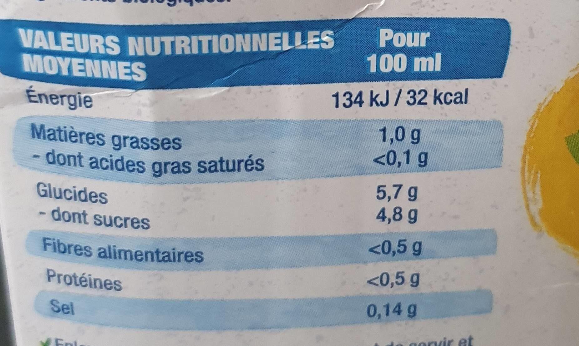 Boisson Amande Noisette - Informations nutritionnelles - fr