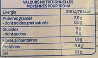 Boisson Gourmande Riz choco noisettes - Valori nutrizionali - fr