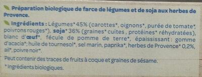 Farce aux légumes sans viande - Ingrediënten - fr