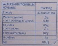 Céréales & Légumes secs - Orge, Épeautre, Pois cassés - Valori nutrizionali - fr