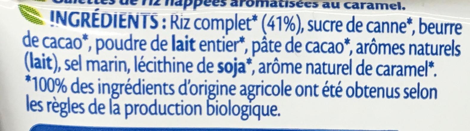 Galettes de Riz Caramel bio - Ingrediënten