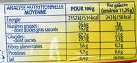 Galettes de Riz Caramel bio - Voedingswaarden