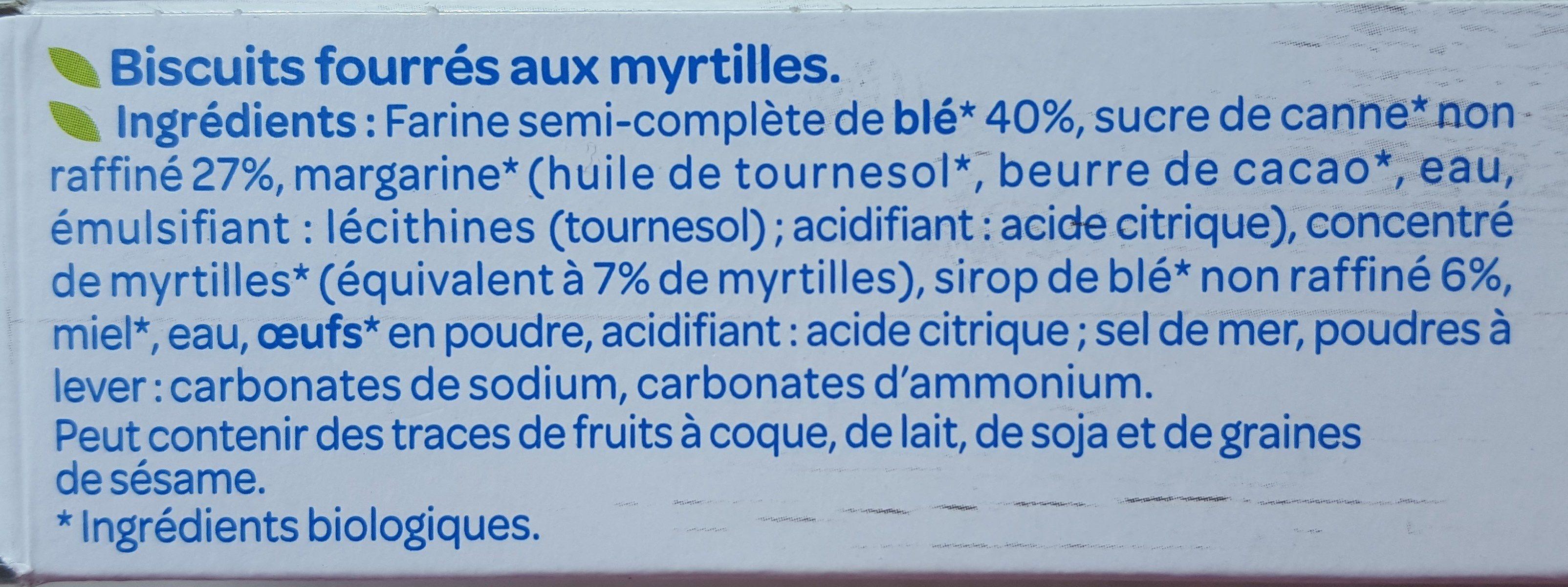 Fourrés fruit myrtilles - Ingrediënten