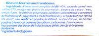 Fourrés framboise - Ingredienti - fr