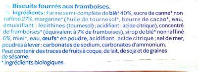 Fourrés framboise - المكونات