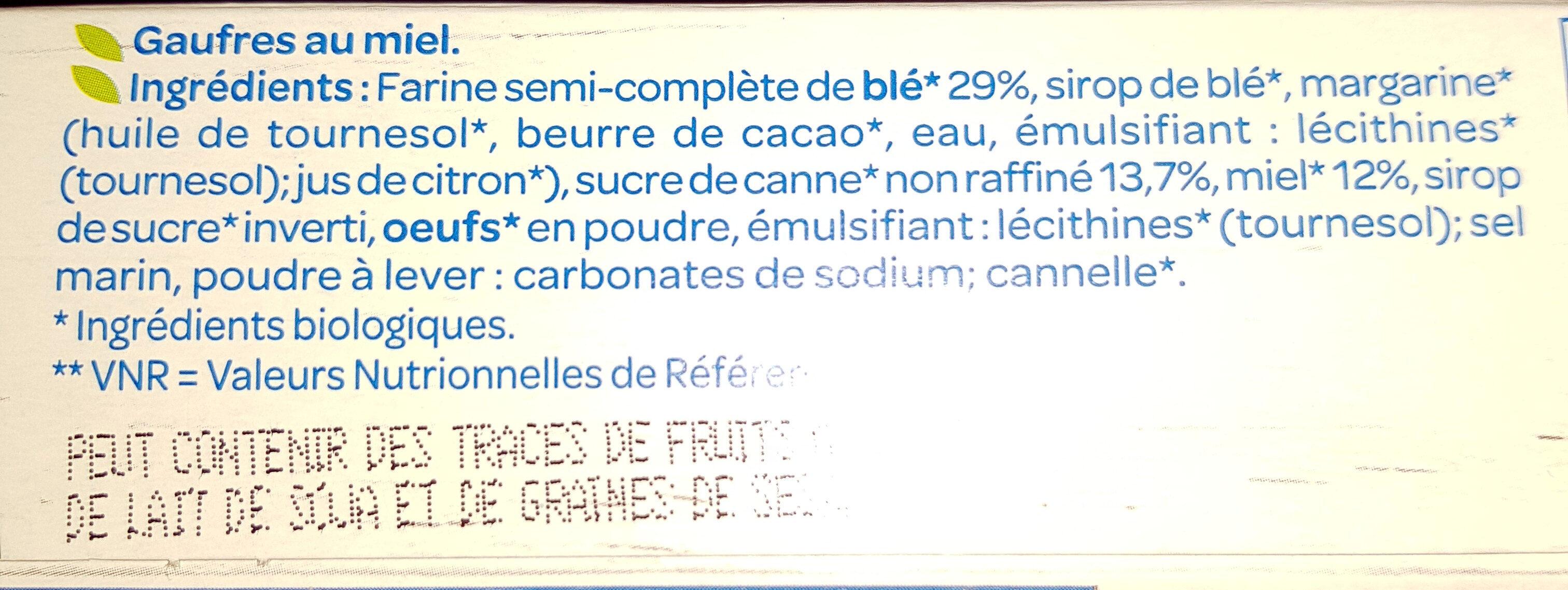 Gaufres Miel - Ingredientes - fr