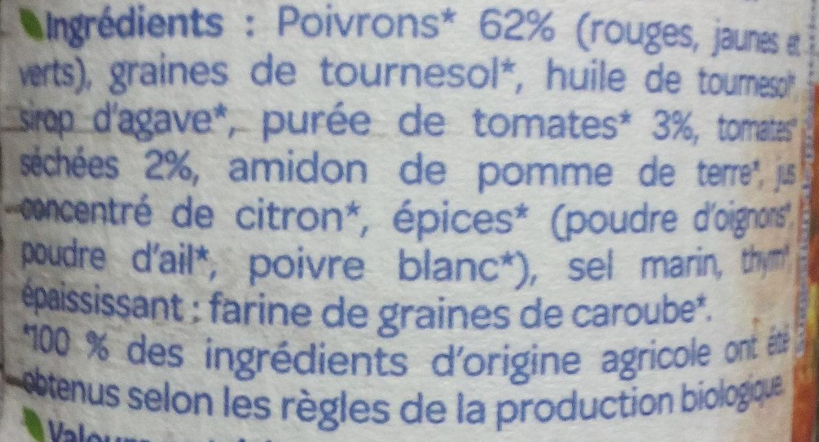 Tartine & Cuisine Trio de poivrons - Ingrédients - fr