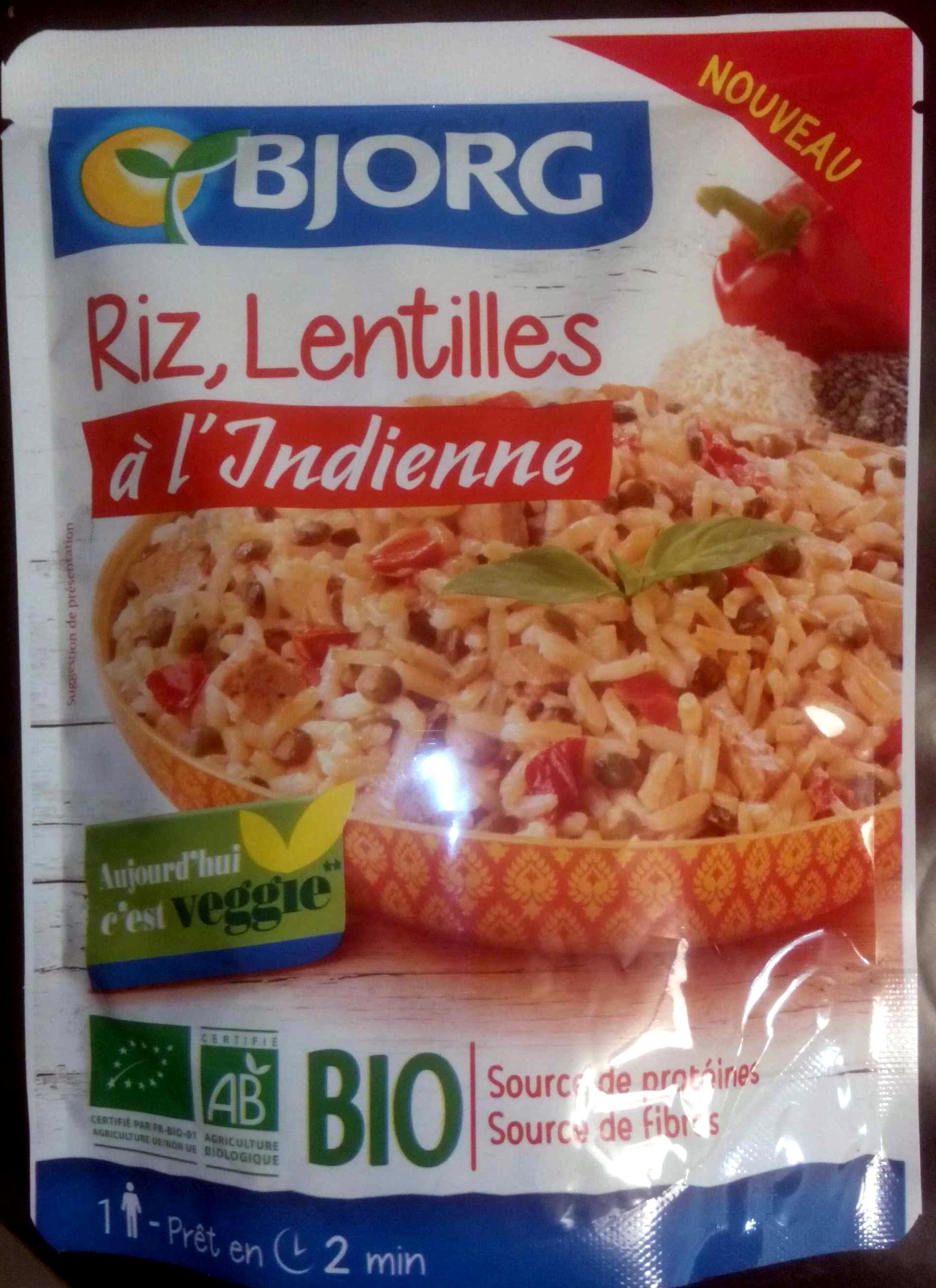 Riz Lentilles A L Indienne Bjorg 220 G