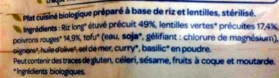 Riz, lentilles à l'indienne - Ingrediënten