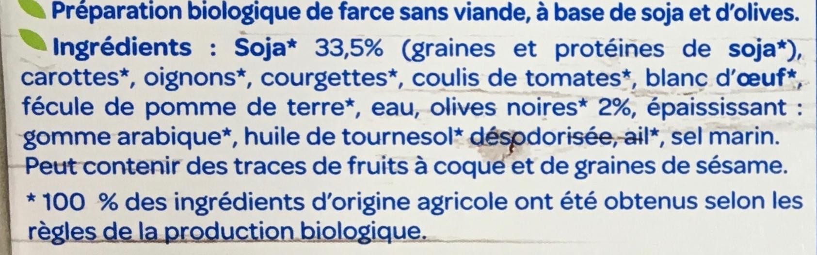 Farce aux olives - Ingrédients - fr