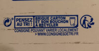Lait d'amande Cappuccino BJORG - Instruction de recyclage et/ou information d'emballage - fr