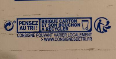 Lait d'amande Cappuccino - Instruction de recyclage et/ou informations d'emballage