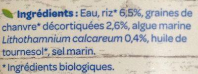 Riz Chanvre Calcium - Inhaltsstoffe - fr
