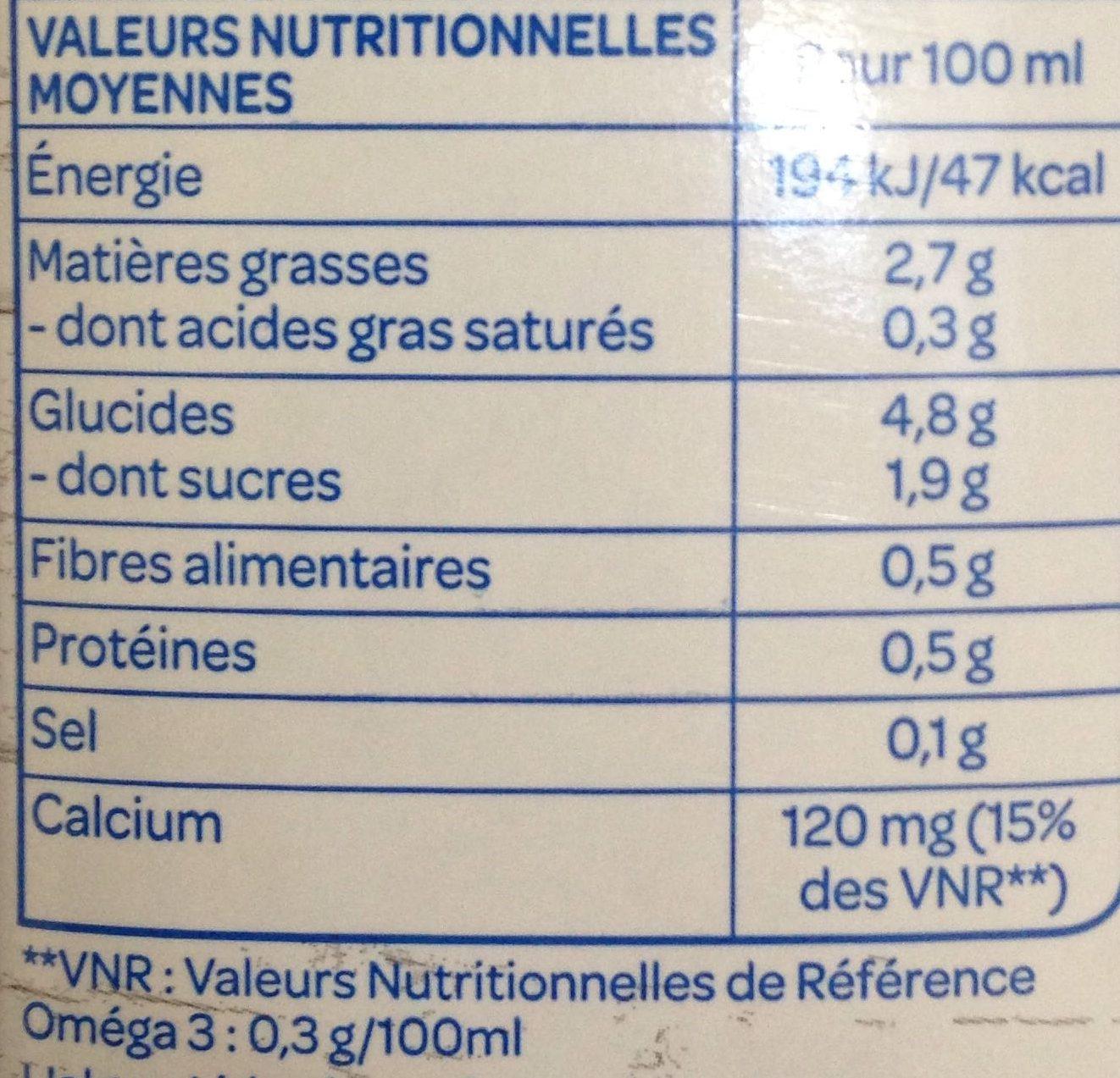 Riz Chanvre Calcium - Nährwertangaben - fr
