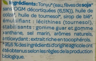 Soja cuisine semi épais veggie - Ingrediënten - fr