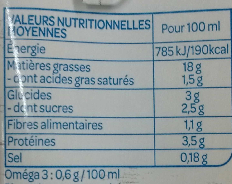 Soja cuisine semi épais veggie - Voedingswaarden - fr