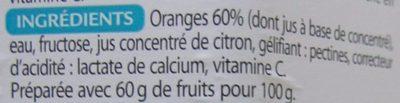 Marmelade d'Oranges Fructose - Ingrédients - fr