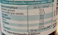 Confiture de Fruits Rouges - Informations nutritionnelles - fr