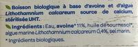 Boisson avoine calcium - Ingredients - fr