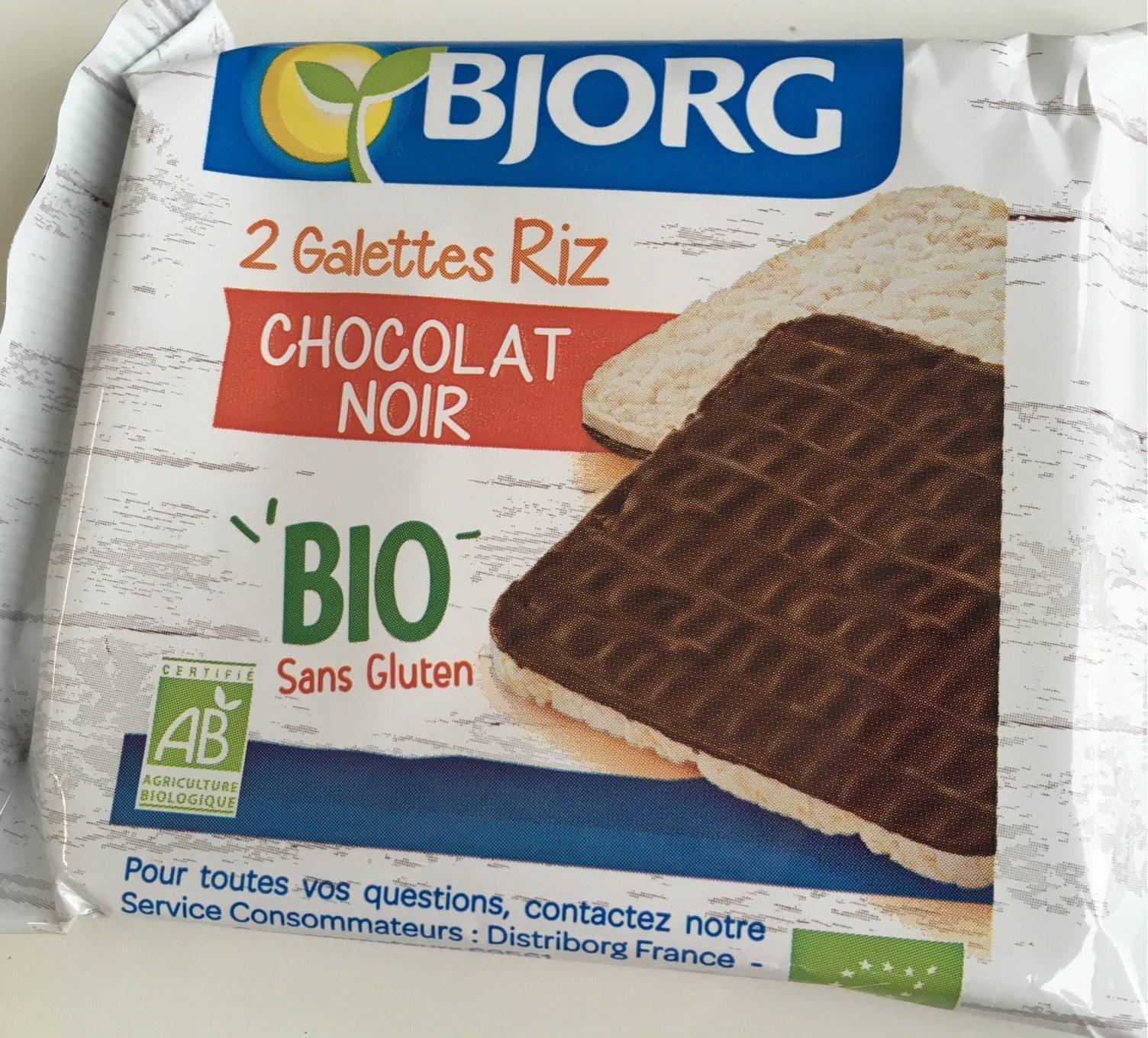 2 Galettes De Riz Au Chocolat Noir Bio - Prodotto - fr