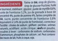 Tartelettes Framboise Myrtille Grenade - Ingredients - fr
