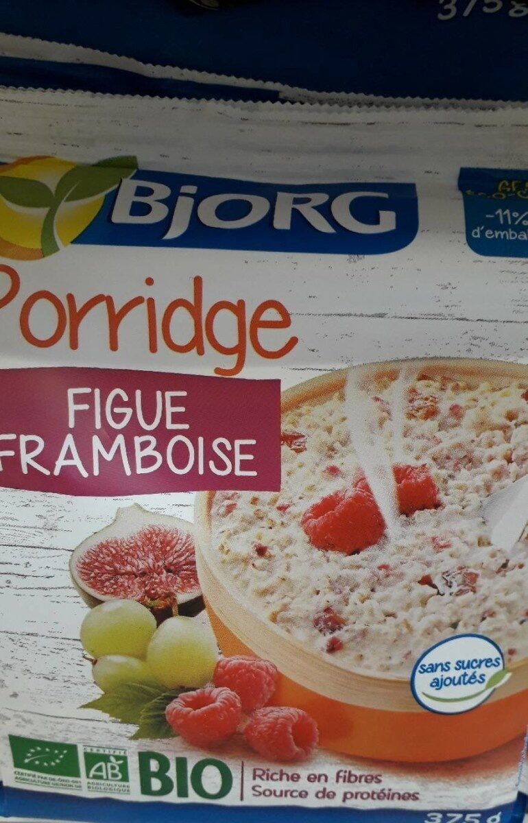 Porridge figue framboise - Produit - fr
