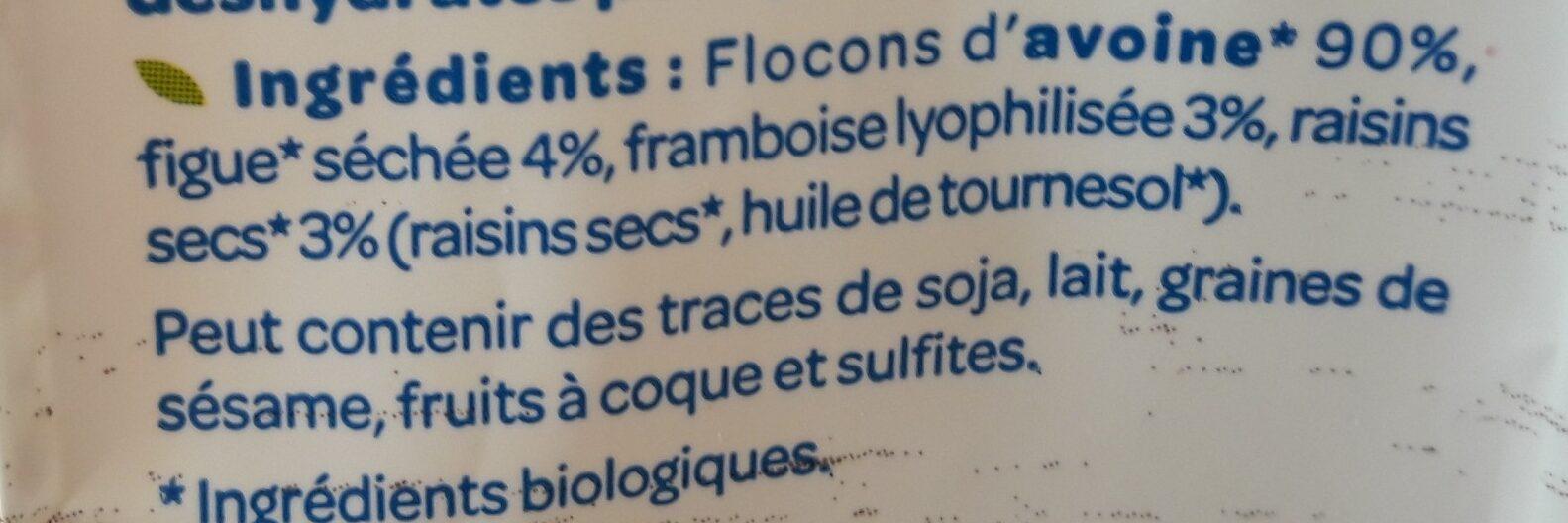 Porridge figue framboise - Ingredients