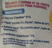 Porridge figue framboise - Ingrédients - fr
