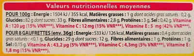 Gaufrettes grenade cranberry - Nutrition facts - fr