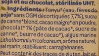 Boisson Soja Chocolat - Ingrédients - fr